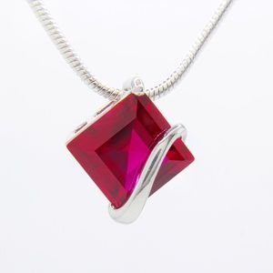 Jewelry - Sterling Silver Genuine Ruby Necklace